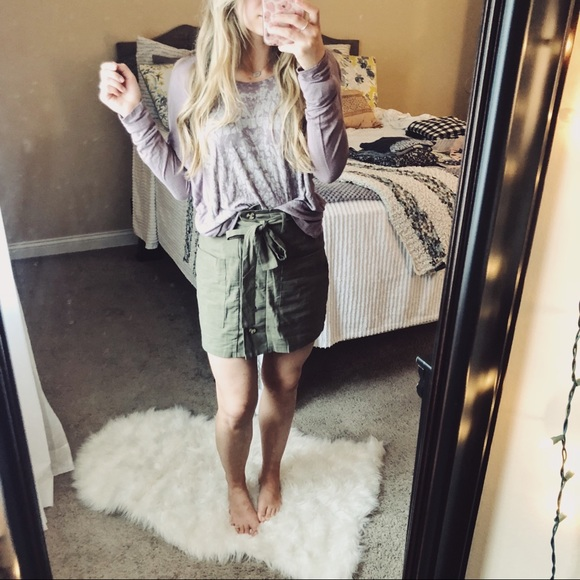 Lush Tops - Lush Dusty Lilac Long Sleeve Boho Top